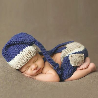 Newborn Baby Crochet Photo Photography Costume Prop Outfits Baby shower gift