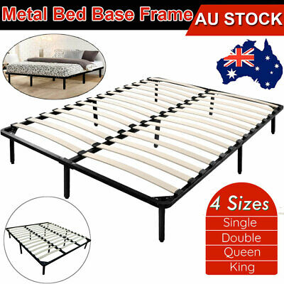 QUEEN DOUBLE KING SINGLE Metal Bed Frame Mattress Base Platform Foundation 4Size
