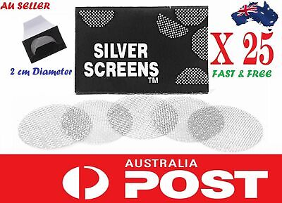 25 PCS Cone Mesh Filter Steel Screen for Tobacco Pipe Dry Herb *AUSSIE SELLER*
