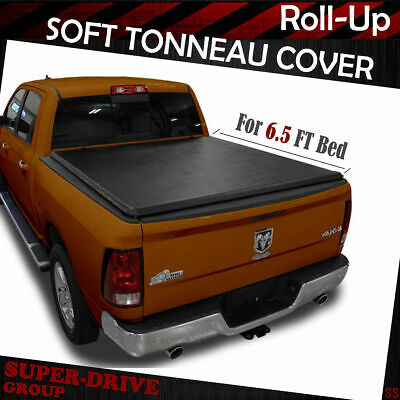 """Roll up Lock Soft Tonneau Cover For 2002-2008 Dodge Ram 1500 6.5 ft 78/"""" Bed"""