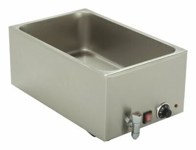 Bain Marie with Drain Tap, 650x370x250 mm, Water Bath Wärmebecken