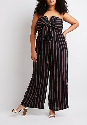 0929129f5c9 NWT CHARLOTTE RUSSE Plus Size Striped Strapless Jumpsuit 3X -  19.99 ...