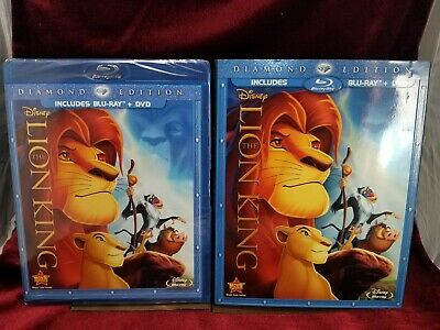 The Lion King (Blu-ray/DVD, 2011, 2-Disc Set, Diamond Edition) with SLIPCOVER