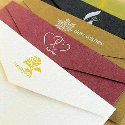 SW026 Creative Type Solid Color Paper Envelope For Postcard Kids Gift Sch DB