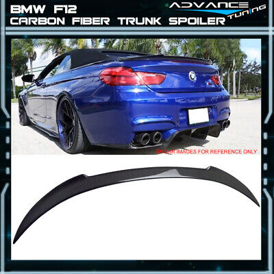 12-17 BMW F12 6-Series Convertible V Style Trunk Spoiler Wing CF Carbon Fiber