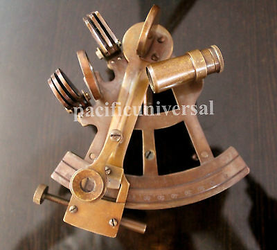 """4"""" Vintage Solid Brass Nautical Sextant Ship Equipment Nautical New Year Gift"""
