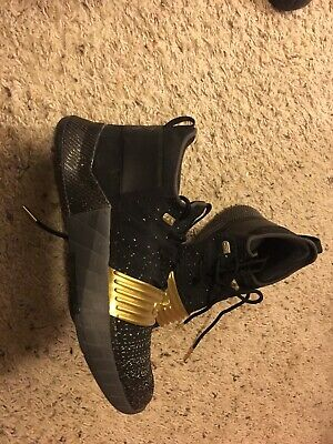 Under Armour C1N Cam Newton Trainer Shoes Black Metallic Gold size 8.5 a834c11ec22e