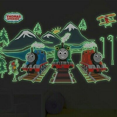 Luminous Thomas The Tank Engine & Friends Train Wall Stickers Decals Home Decor