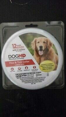 DogMD Maximum Defense Flea & Tick Collar for Large Dogs 2 collars New In Can