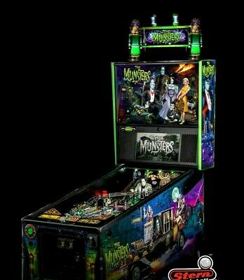 NEW Voice Control LEDS MUNSTERS Pinball Machine Topper Custom Made 48 LEDS