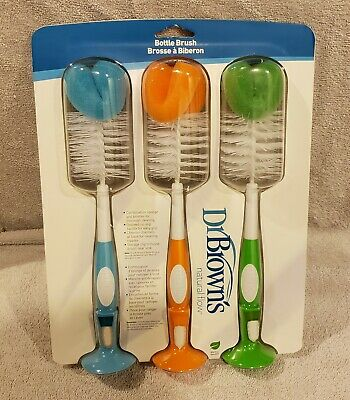 Dr. Brown's Natural Flow Bottle Brush, 3-Pack **BRAND NEW**