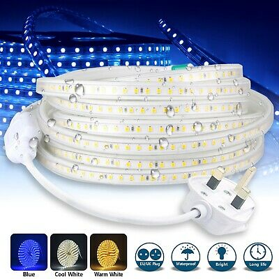 Led Strip Lights 220v 240v IP68 Waterproof 5050 SMD Rope Garden Decking Kitchen