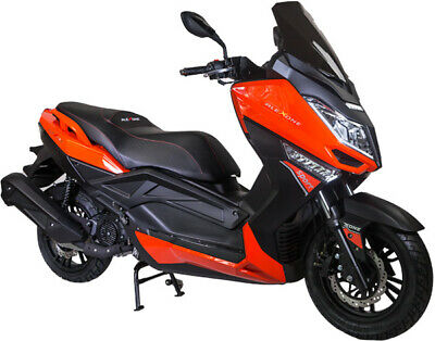 Razory AleXone Maxi-Scooter 125ccm Orange-Schwarz EFi Euro-4 12V-Ladestatiion
