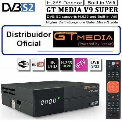 GTMEDIA V9 Super DVB-S2 Built-in Wifi TV Satellite Receiver W/GTMEDIA