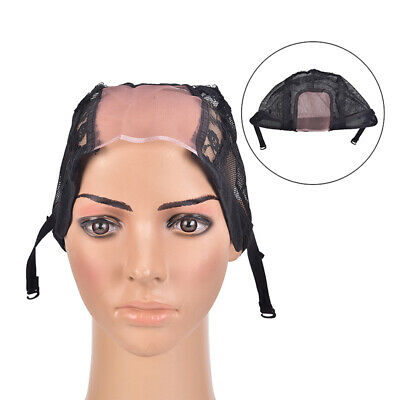 Wig cap for making wigs with adjustable straps breathable mesh weaving 1pc