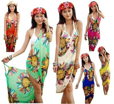 Women Swimwear Cover Up Chiffon Backless Wrap Beach Sexy Beach Dress Swim Suit