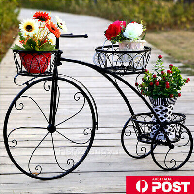 Outdoor Indoor Metal Pot Plant Stand Garden Planter Corner Shelves BIKE GIFT OZ