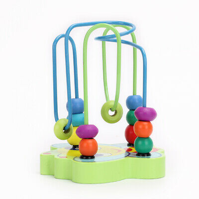 Mini Around Beads Educational Game Wooden Toys For Kids Children Baby Boys Gift