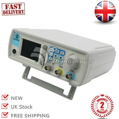 Dual Channel Arbitrary Waveform Signal Generator Pulse Source Frequency Meter UK