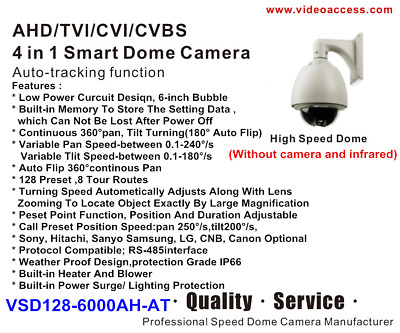 AHD TVI CVI CVBS 4 in 1 Smart Dome Camera  PTZ 1080p IP66 CCTV Auto-Tracking