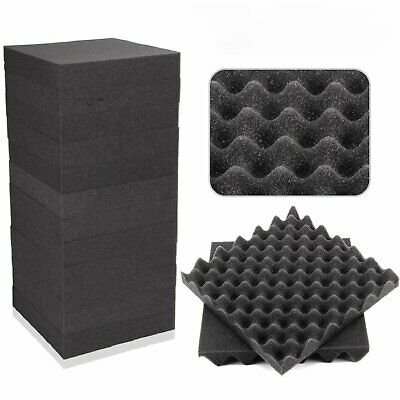 24/120/240x Acoustic Wall Panels Sound Proofing Foam Pads Studio Treatments Tool