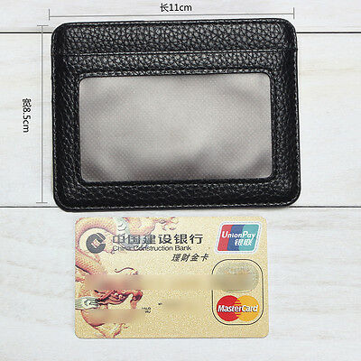 Mens PU Leather Wallet Front Pocket RFID Blocking Slim Mini Cards Holder Bag New