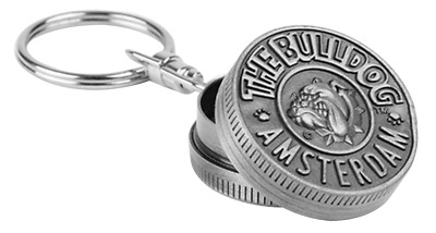 The Bulldog Amsterdam Keychain Metal Grinder.Portable and Convenient.