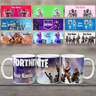 Personalised Fortnite Mug Cup for gamers ADD ANY NAME/GAMER TAG NEW CHAPTER 2