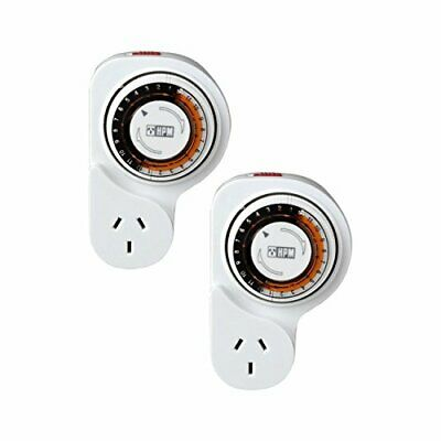 2 X Brand New HPM 24 Hour Digital 240V Programmable Electronic Timer