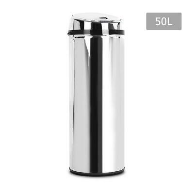 50L Stainless Steel Motion Sensor Bin Rubbish Waste Auto Trash Can Kitchen Home