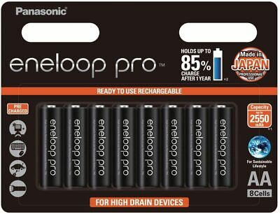 Panasonic Eneloop Pro - AA NiMH Rechargeable Batteries x 8 - Made in JAPAN