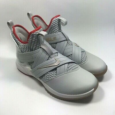 online store ab6c2 fc8b2 Nike LeBron James Soldier XII 12 Basketball Men s Shoes Light Bone Gray Size  11