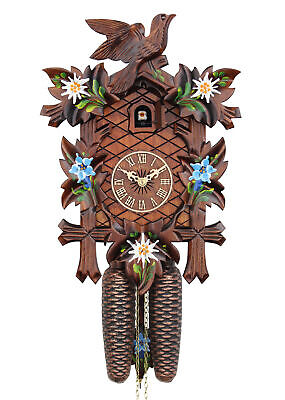 Adolf Herr Cuckoo Clock  - Alpine Flowers AH 320/8 8T NEW