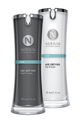 New Nerium AD Age Defying Anti Wrinkle Day and Night Cream Face Serum Free Post