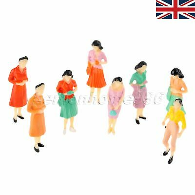 100 Model People Figures Train Railway Layout Scenery Toys 1:75 Painted Unique