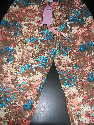 Ladies Peter Alexander Painted Garden flannelette  Pants BNWT Size XS