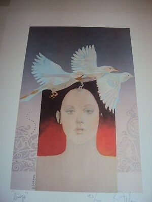 """Bart Forbes original lithograph art print  """" Wings """"  limited ed 444/700"""