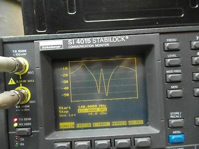 Schlumberger SI 4015 400kHz to 1GHz STABILOCK  Service Monitor Spectrum Analyzer