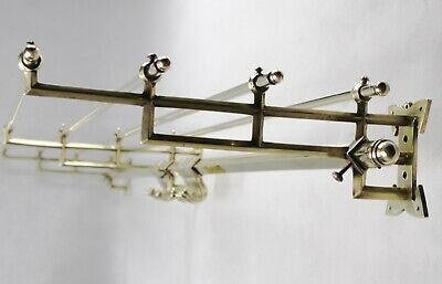 155 cm - Original ART DECO Garderobe - Wandgarderobe - Messing - Coat Rack