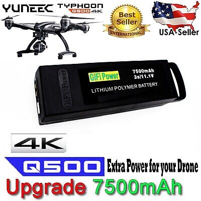 7500mAh Li-Po Replacement Battery for YUNEEC Q500+ PRO 4K Typhoon Drone