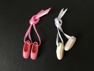 Sindy ballet shoes added ribbon ballerina dance pink white SELECTION ShimmyShim