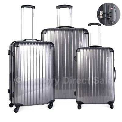 "3PCS Set Luggage Travel Bag ABS Trolley Spinner Suitcase w/TSA Lock 20"" 24"" 28"""