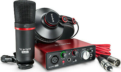 Focusrite Scarlett Solo Studio 2nd Gen USB Audio Interface Bundle with Pro Tools