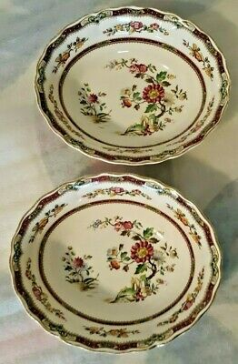 2 Antique Grindley England Marlborough Royal Petal Connaught Oval Serving Bowls