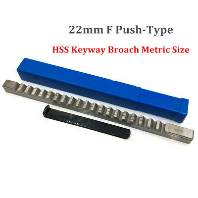 22mm F Push Type Keyway Broach HSS Metric Size Involute Spline CNC Cutter +Shim