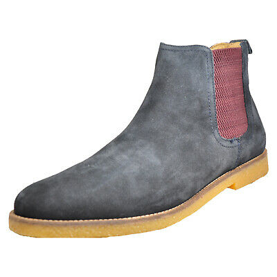 11dad4f0ea4515 Base London Ferdinand Men s Smart Casual Suede Leather Chelsea Boots