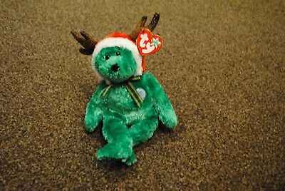 6247c6a81d4 Genuine TY Beanie Babies 2002 HolidayTeddy with Tag Good Condition Christmas