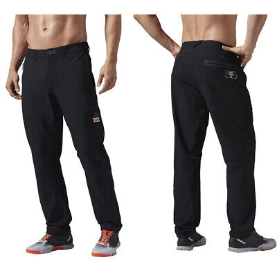 Mens Reebok CrossFit Pants Black Size 34 RCF Woven Pants NEW