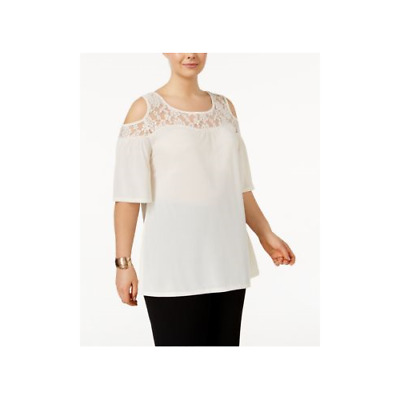 218de18e5b3c72 Belldini - Lace Cold-shoulder Top - Plus - 1X Tall