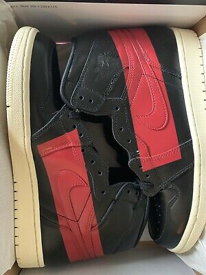 los angeles 5cd39 b87fb Nike Air Jordan 1 High OG Defiant Couture Black Red BQ6682-006 Size 9
